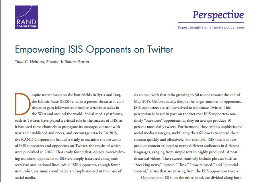 Empowering ISIS Opponents on Twitter